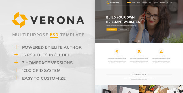 Verona – Multipurpose PSD Template