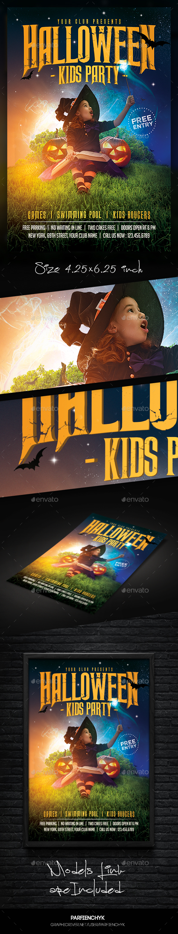 Kids Halloween Magic Flyer by Parfienchyk | GraphicRiver