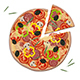 Pizza with Rosemary Leaves - GraphicRiver Item for Sale