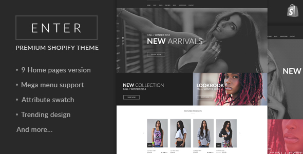 JMS Enter - Responsive Shopify Theme - Fashion Shopify