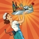 Woman Waitress In a Restaurant - GraphicRiver Item for Sale