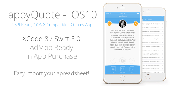 appyQuote - iOS App for Quotes, Jokes, Wishes, Motivation, Money ecc. - CodeCanyon Item for Sale