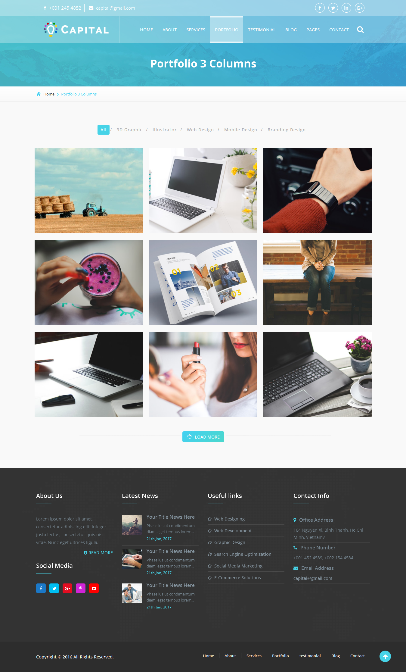 Capital Creative HTML Template by viaviwebtech | ThemeForest