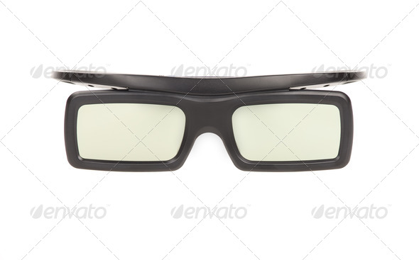 3D glasses isolated on white background  - Stock Photo - Images