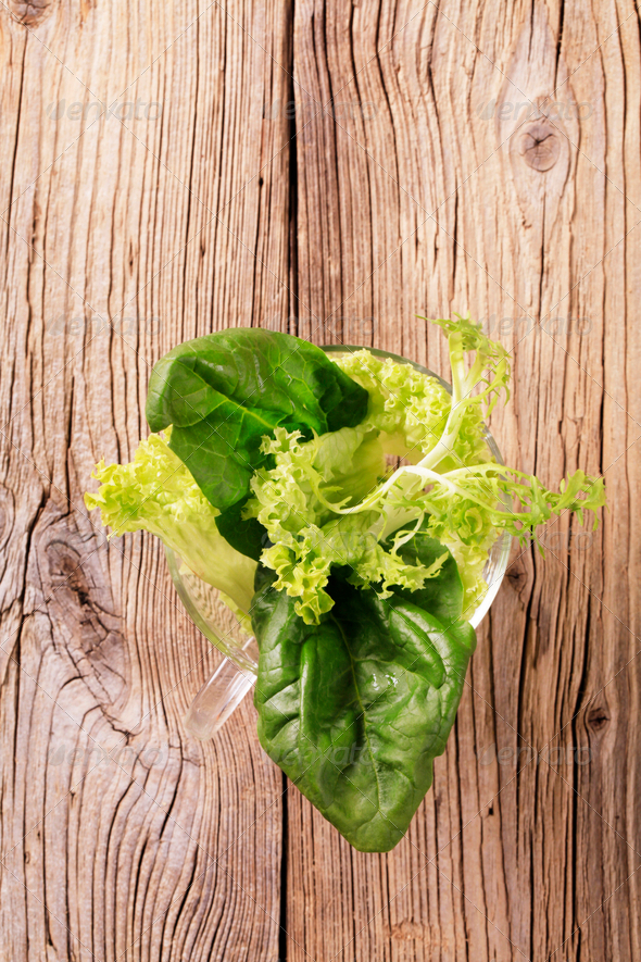 Fresh leaf vegetables - Stock Photo - Images