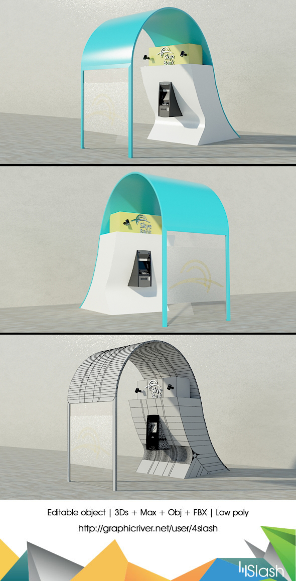 3D Outdoor ATM Machine - 3DOcean Item for Sale