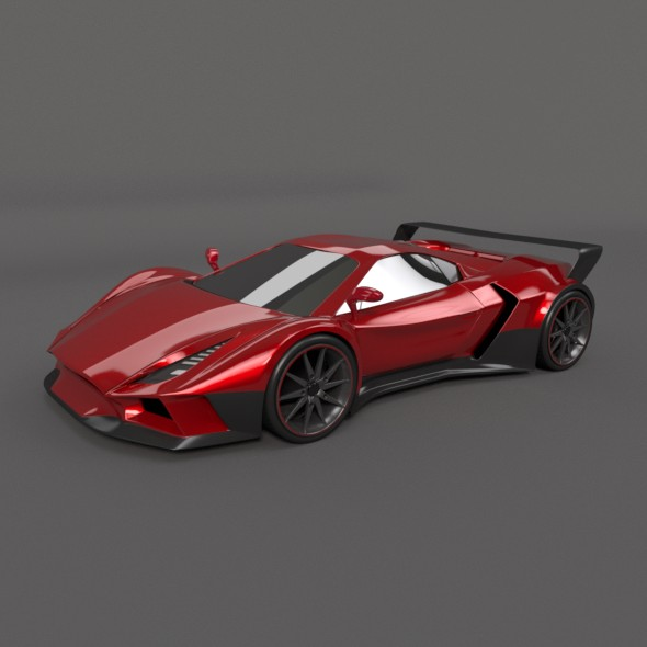 Arrowon racing car concept - 3DOcean Item for Sale