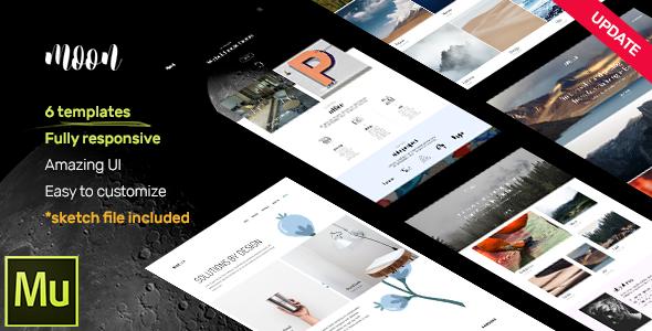 moon – Responsive Portfolio Adobe Muse Templates