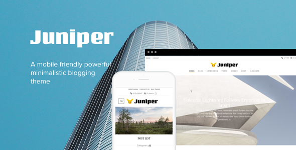 Juniper – Personal WordPress Blog Theme