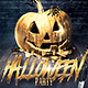 Halloween Party | Gold Pumpkin Template - GraphicRiver Item for Sale