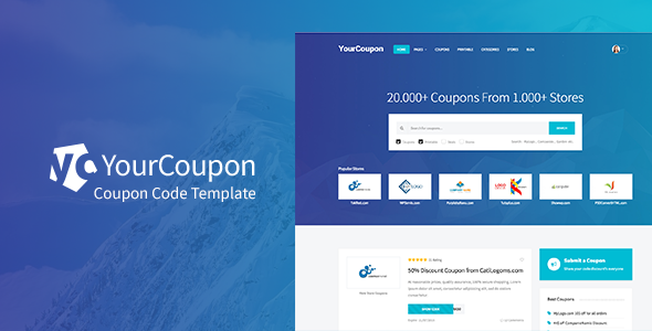 YourCoupon | Coupon Code, Discount, Deal Responsive Site Template - Miscellaneous Site Templates