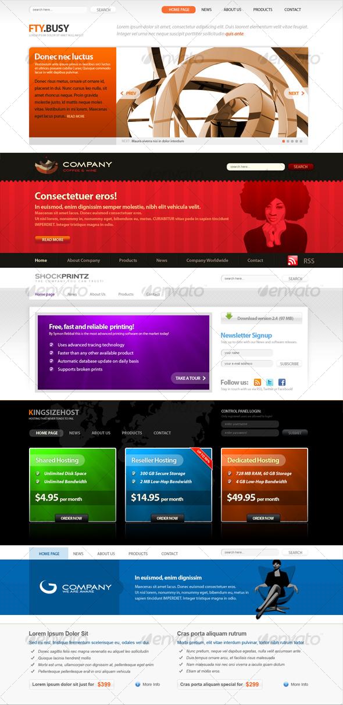SOFA - 5 WEB site headers - Miscellaneous Web Elements