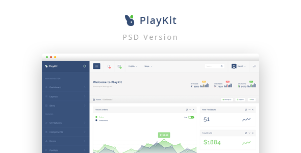 PlayKit - Web App PSD Template - Business Corporate