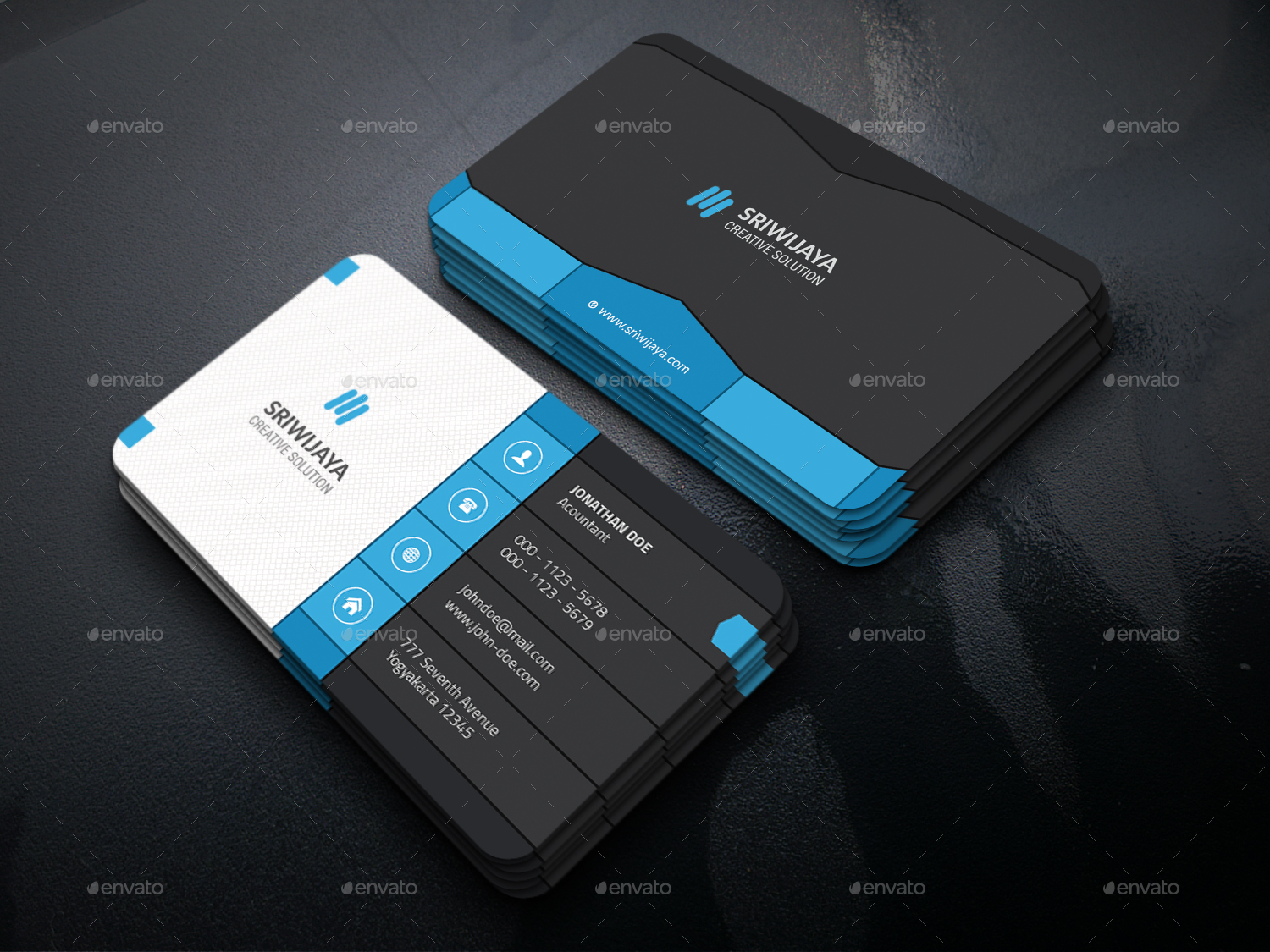 Dark Business Card Bundle by GOWES | GraphicRiver