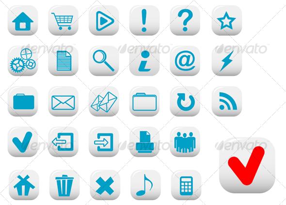 Internet buttons - Decorative Vectors