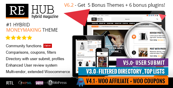 REHub – Directory, Multi Vendor Shop, Coupon, Affiliate Theme