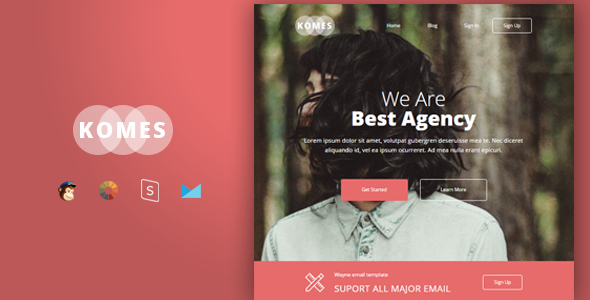 Komes – Multipurpose Responsive Email Template + Stampready Builder