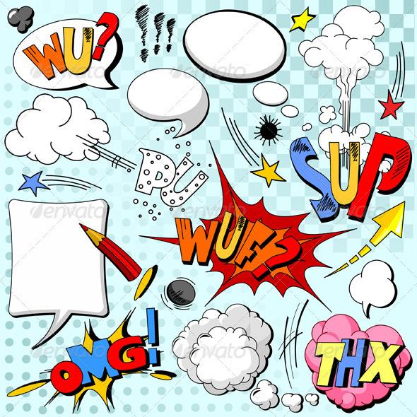 Comic book explosion - Characters Vectors