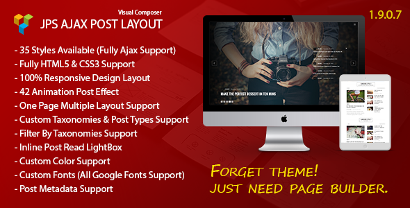 JPS Ajax Post Layout - Addon For Visual Composer - CodeCanyon Item for Sale