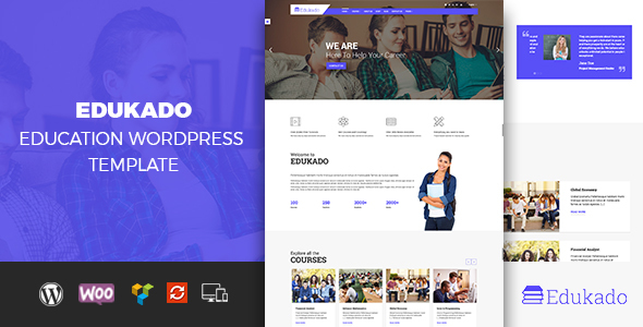 Edukado – Responsive Education & LMS WordPress Theme