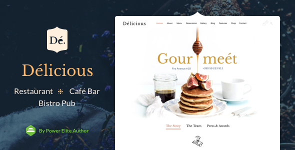 Restaurant Cafe – Theme for Restaurants and Cafes