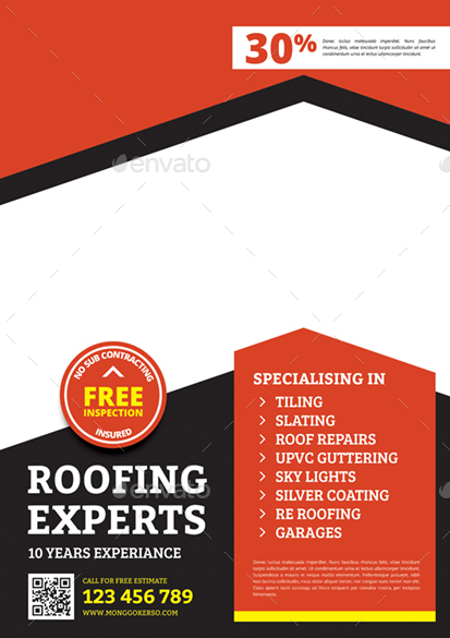 Roofing Flyer By Monggokerso Graphicriver