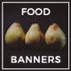 10 Food Banners - GraphicRiver Item for Sale