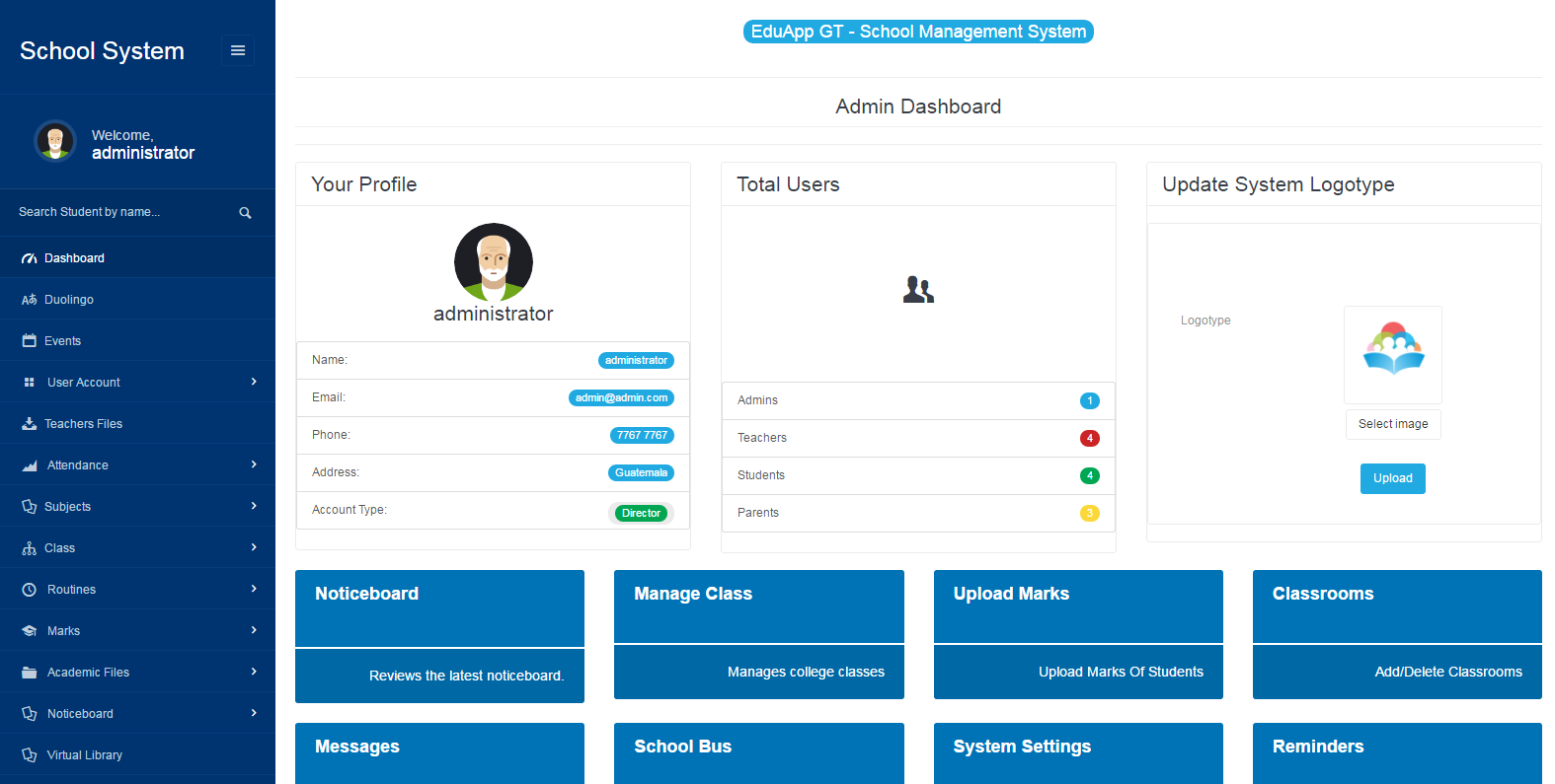 Eduappgt Pro School Management System By Webstudioappsgt