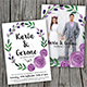Watercolor Wedding Invitation 01 (Hand Painted Floral Wreath) - GraphicRiver Item for Sale