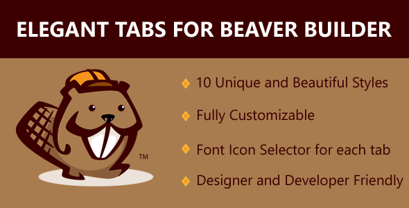 Elegant Tabs for Beaver Builder - CodeCanyon Item for Sale