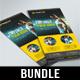4 in 1 DL Sport Activity Flyer Bundle V3 - GraphicRiver Item for Sale