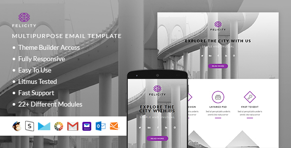 Felicity – Responsive Email + StampReady Builder - Email Templates Marketing