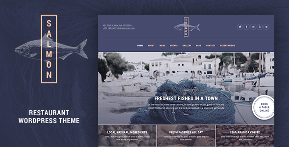 Salmon: Restaurant WordPress Theme