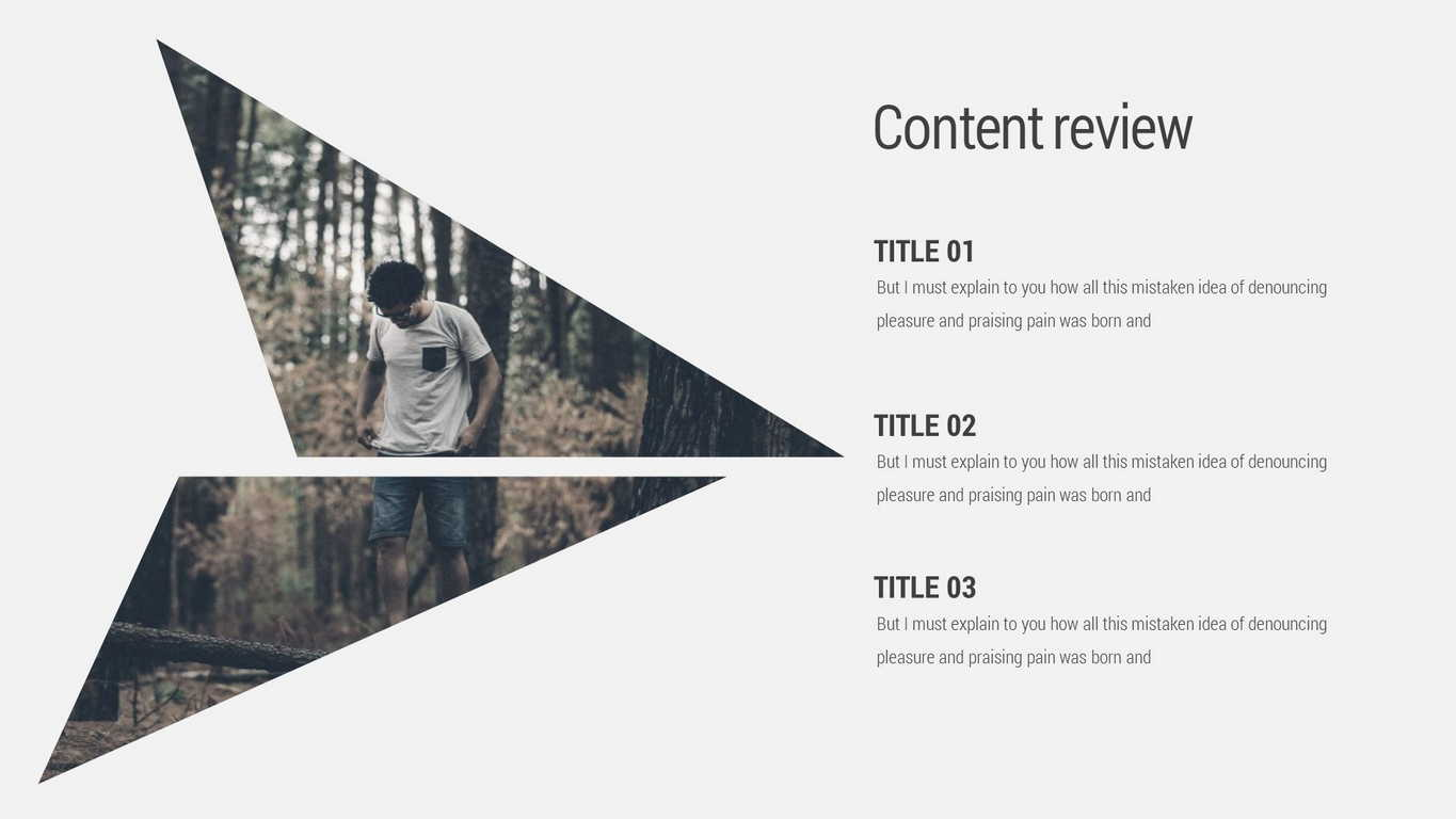 Triangle Minimal Powerpoint Template By Evgenybagro Graphicriver