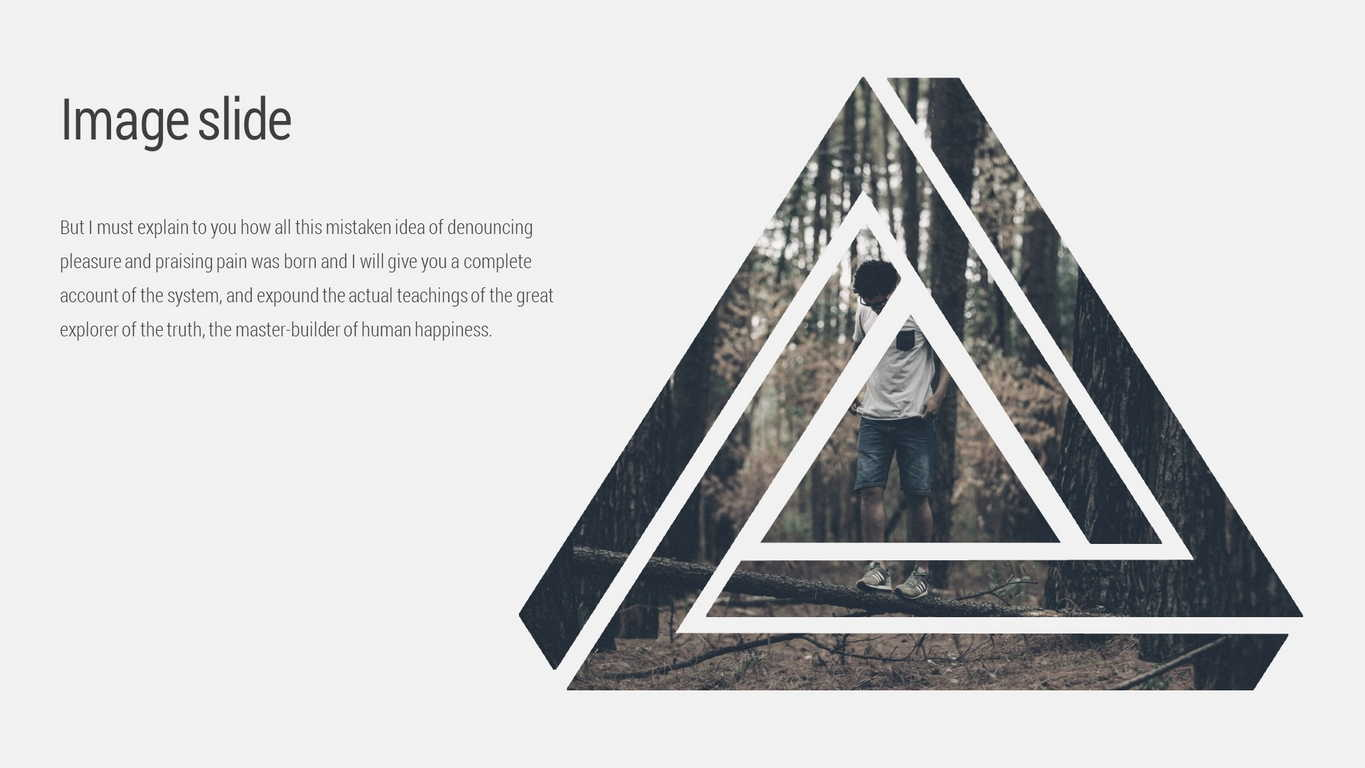 Triangle Minimal Powerpoint Template by EvgenyBagro | GraphicRiver