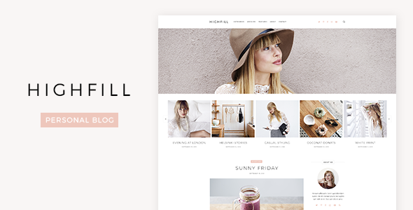 Highfill – Personal Blog PSD Template