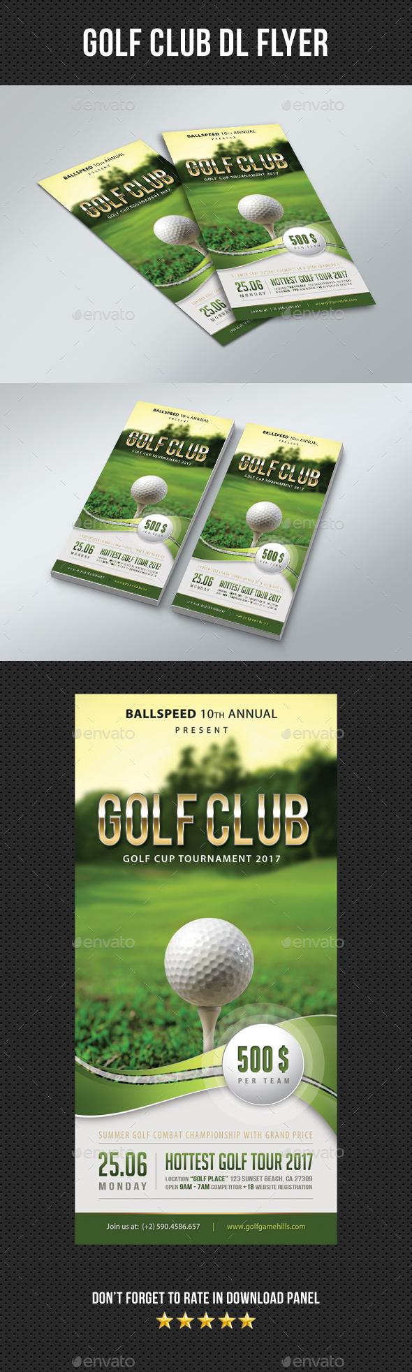 Golf Club DL Flyer 01 - Sports Events