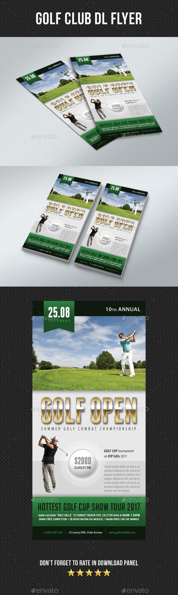 Golf Club DL Flyer 03 - Sports Events