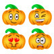 Halloween Pumpkin Emoji Emoticons - GraphicRiver Item for Sale