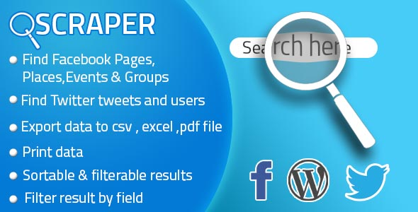 Facebook Twitter Scraper For Business (WP plugin) - CodeCanyon Item for Sale