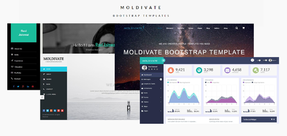 Moldivate -4 Bootstrap Template In One Package