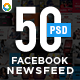 Facebook NewsFeed Banners Templates - 25 Designs - 2 Sizes Each - GraphicRiver Item for Sale