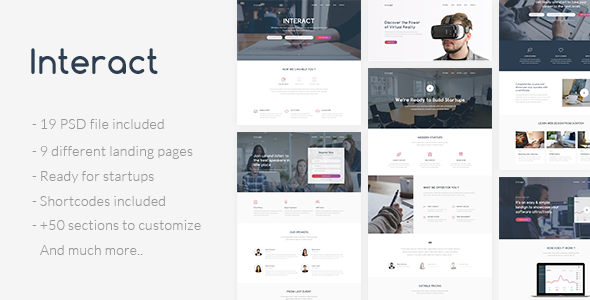 Interact – Multipurpose Landing Page Template