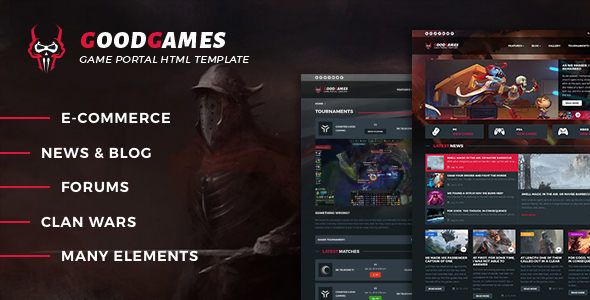 GoodGames - Portal / Store HTML Gaming Template - Technology Site Templates
