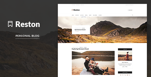 Reston – Personal Blog PSD Template