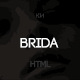 Brida - Multipurpose, Minimal Wedding Template - ThemeForest Item for Sale
