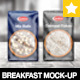 Breakfast Package Set Mock-Up / 5 PSD - GraphicRiver Item for Sale