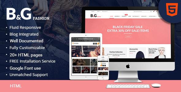 B & G - eCommerce Fashion HTML Template