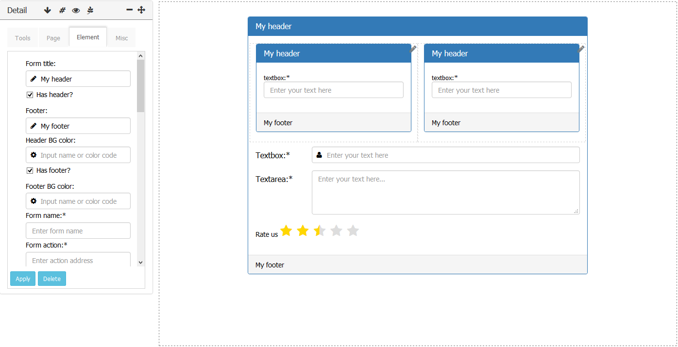 Bside Bootstrap Form Builder By Srnmrf Codecanyon