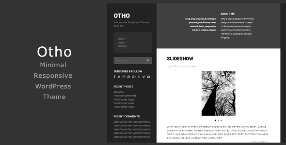 Otho - Minimal Responsive WordPress Theme
